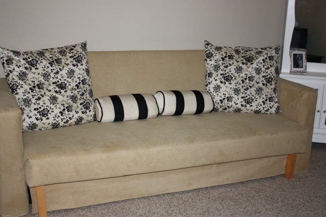 diy reupholstered ikea couch